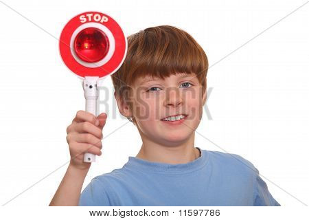Boy with Stop Sign