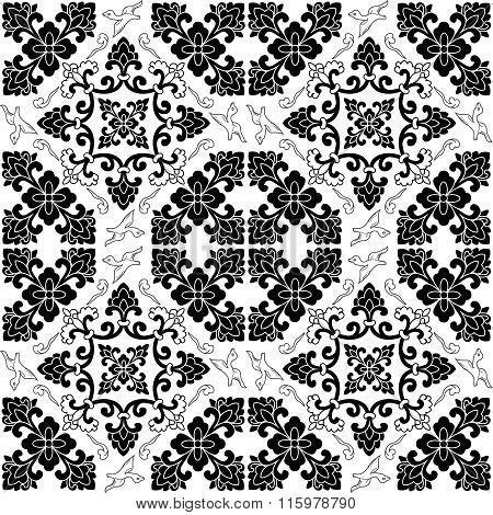 Vector Seamless Repeating Arabic Pattern Illustration