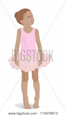 Little Ballerina In A Pink Tutu