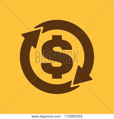 The currency exchange dollar icon. Cash and money, wealth, payment symbol. Flat