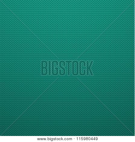 Knitted Style Mint Color Seamless Pattern. Vector EPS10 Seamless