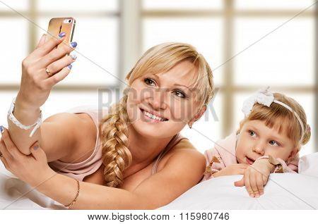 selfie from bedtime