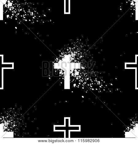 White cross grunge