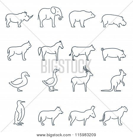 Animal Vector Icons.elements For Print, Mobile And Web Applications