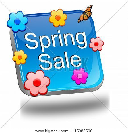 spring sale button