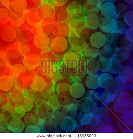 Colorful bokeh abstract light background