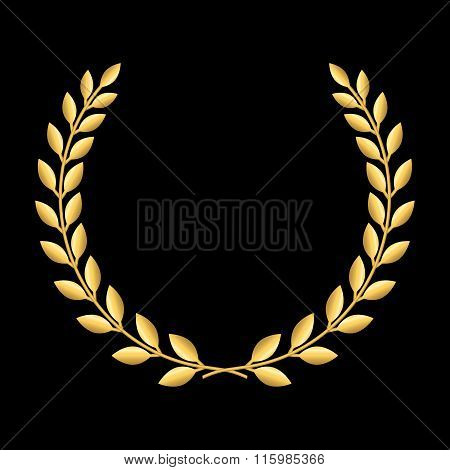 Gold laurel wreath 2