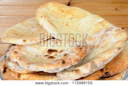Homemade Naan bread.