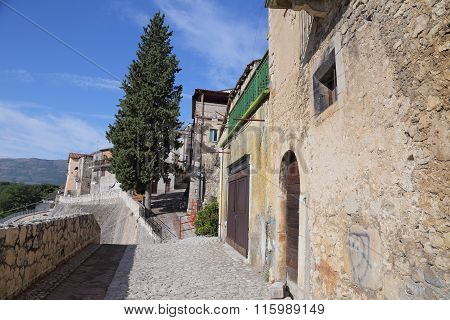 View of the ancient town - Corfinio L'Aquila.