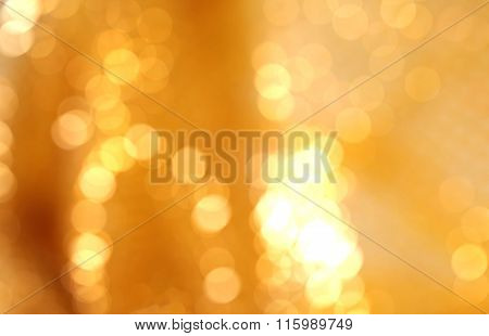 Abstract gold blur background