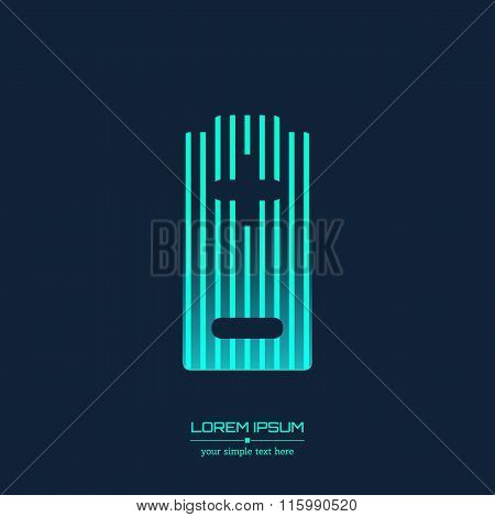 Abstract Creative concept vector icon of battery for Web and Mobile Applications isolated on backgro