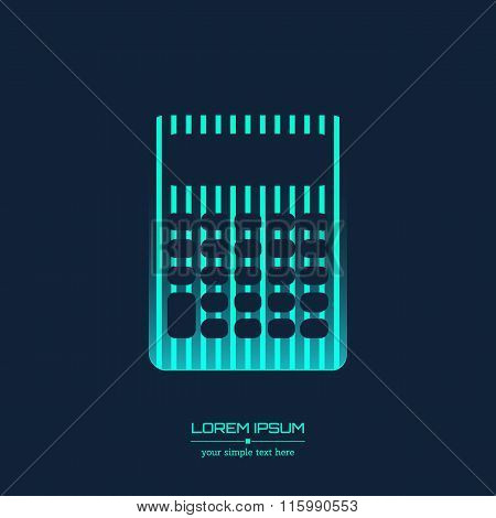 Abstract Creative concept vector icon of calculator for Web and Mobile Applications isolated on back