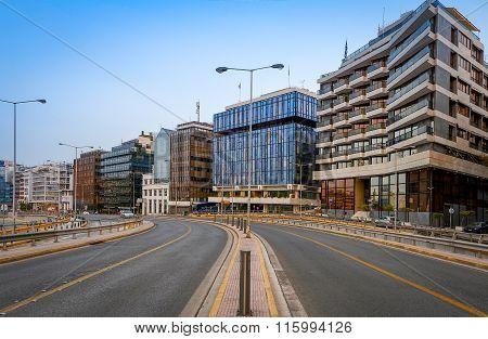 View of road at Piraeus port,Greece