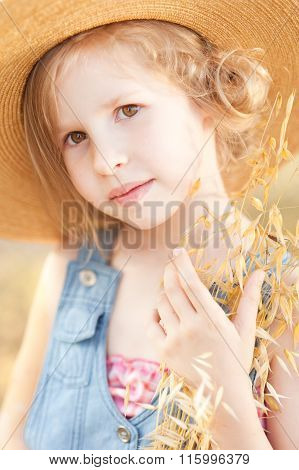 Cute blonde kid girl