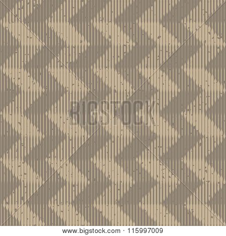 Vector Seamless Grey Hand Drawn Engraving Chevron Lines Retro Grunge Pattern