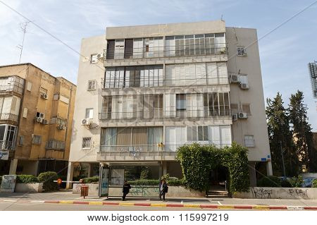 Tel-aviv, Israel - January 22, 2016: Typical Old House