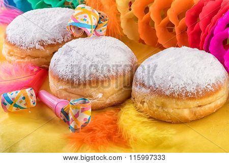 Berliner Traditional German Sweet Donuts Doughnuts