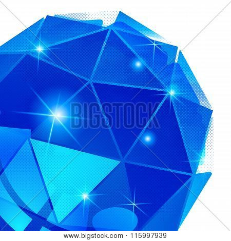 Vector Futuristic Background With Effect Sparkling Textured Deformed Figure.