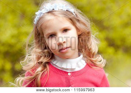 Beautiful id girl outdoors