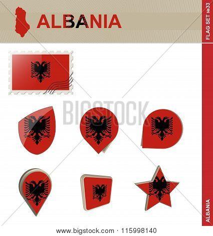 Albania Flag Set, Flag Set #33