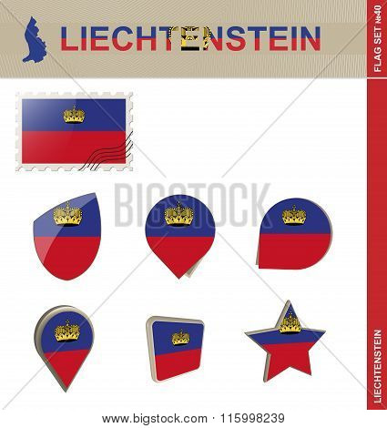 Liechtenstein Flag Set, Flag Set #40