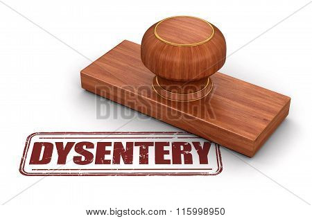 Stamp Dysentery.  Image with clipping path