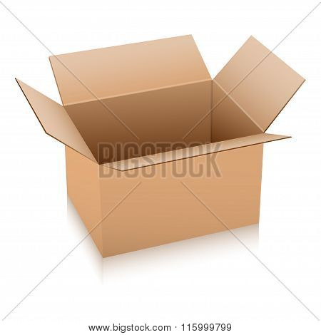 Open Box Vector Illustration.