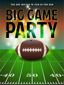 American Football Party Invitation poster