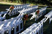Outdoor Wedding Setup poster