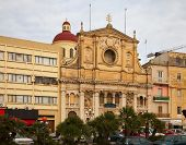 picture of olden days  - Sant Antnin church at Sliema town - JPG