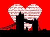 Tower Bridge London Valentines Day poster