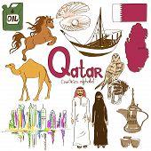 Постер, плакат: Collection Of Qatar Icons