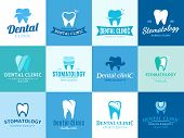 Dental Clinic Logo, Icons And Design Elements poster