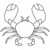 Постер, плакат: Crab outline icon Vector illustration