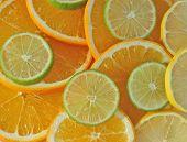 Sliced Orange Lemon And Lime