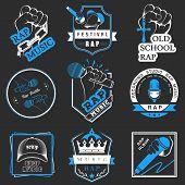 Постер, плакат: Set Logos And Badges Rap Music