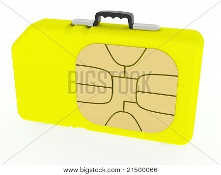 Sim Card Represented As Case