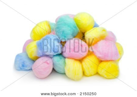 Multicolored Cotton Balls