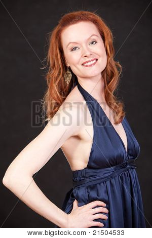 Attractive Thirties Caucasian Woman Smiling