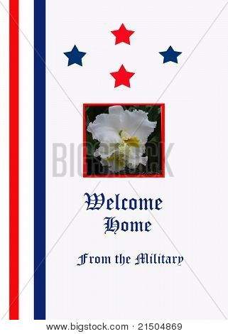 Military Welcome Home Design on a Card