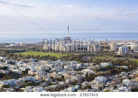 Tel Aviv  skyline / Aerial view of  Tel Aviv