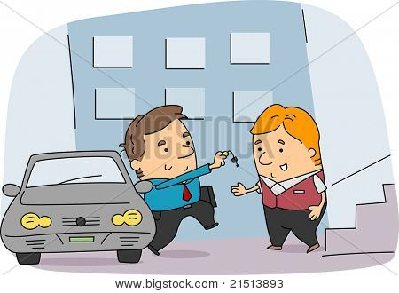 Illustration of a Valet at Work