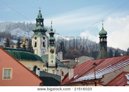 Banska Stiavnica in winter