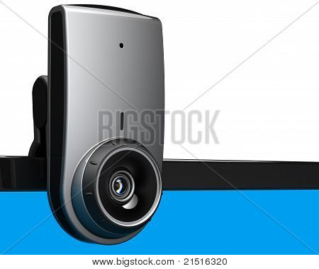 Computer web camera internet video meeting