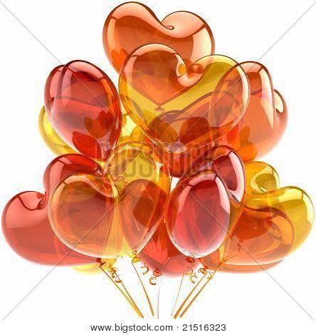 Party balloons happy birthday shiny decoration