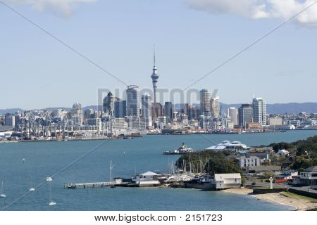 Auckland City Cbd And Wharf