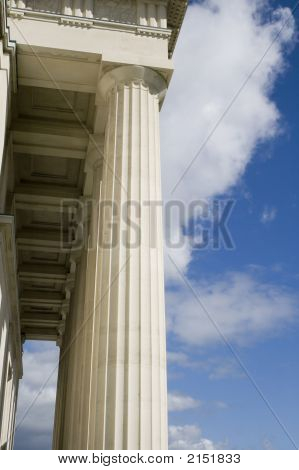 Stone Columns With Portico Roof