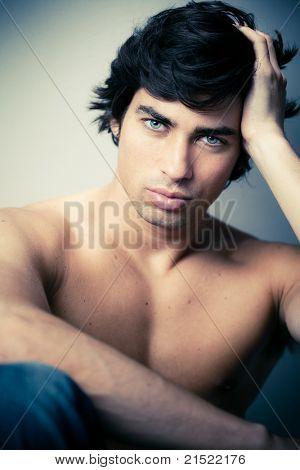 naked caucasian man