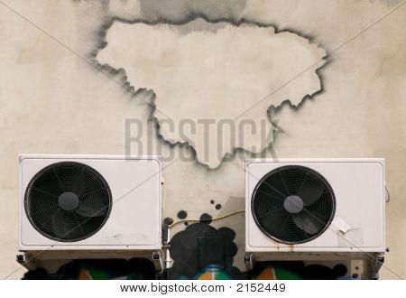 Graffiti Frame Over Aircon.