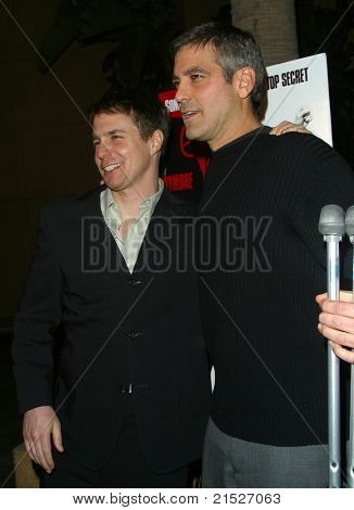 LOS ANGELES - JAN 7: Sam Rockwell; George Clooney at the American Cinematheque discussion and screening of 'Confessions of a Dangerous Mind' at the Egyptian Theater in Los Angeles, CA on January 7, 2003